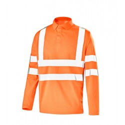 Polo Manches Longues Fluo Safe